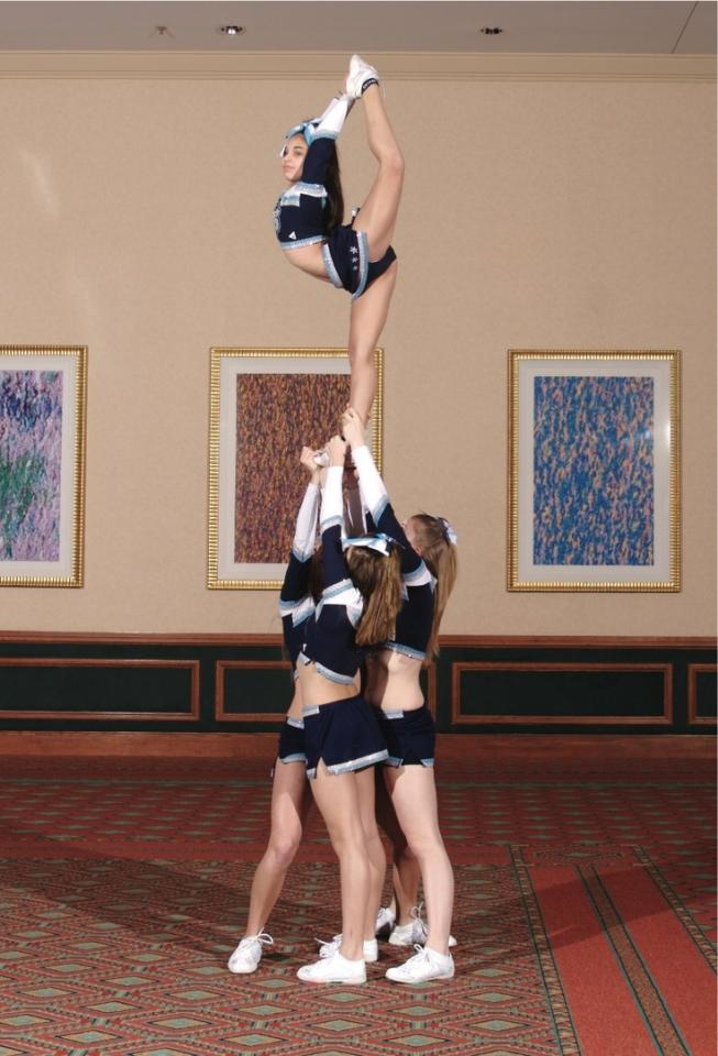 Step two: Work on your skills. Before tryouts, get with a few friends and work on your stunting, tumbling, and cheers. Have everything ready and looking perfect before you show up for tryouts.