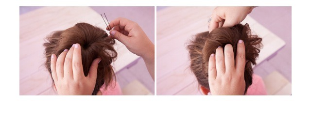 Secure any loose ends with a few bobby pins!