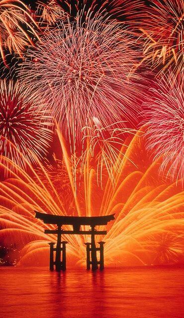 ORANGE FIREWORKS, JAPAN