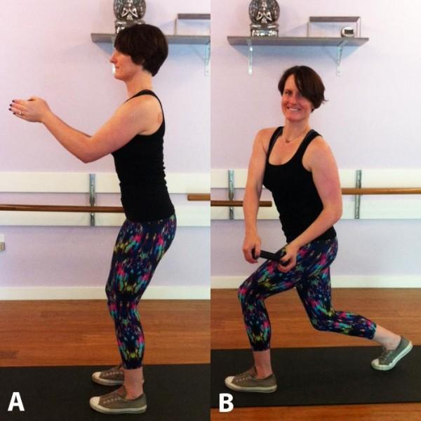 """This functional move not only blasts a bunch of calories fast, but because it's multi-planar, whole body core work it strengthens your body dynamically as you twist and lunge—just like you do in life,"""" Recommended: Sets: 2 to 3 Reps: 12"""