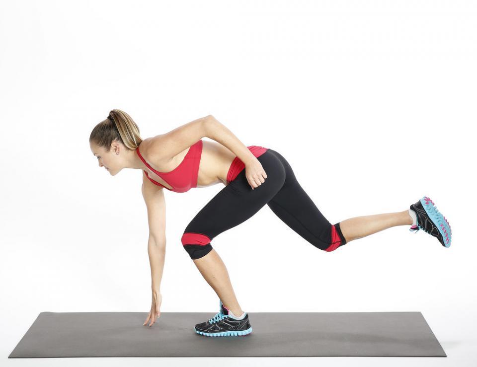 Circuit Three: Single-Leg Touch  Reps: 15, each side