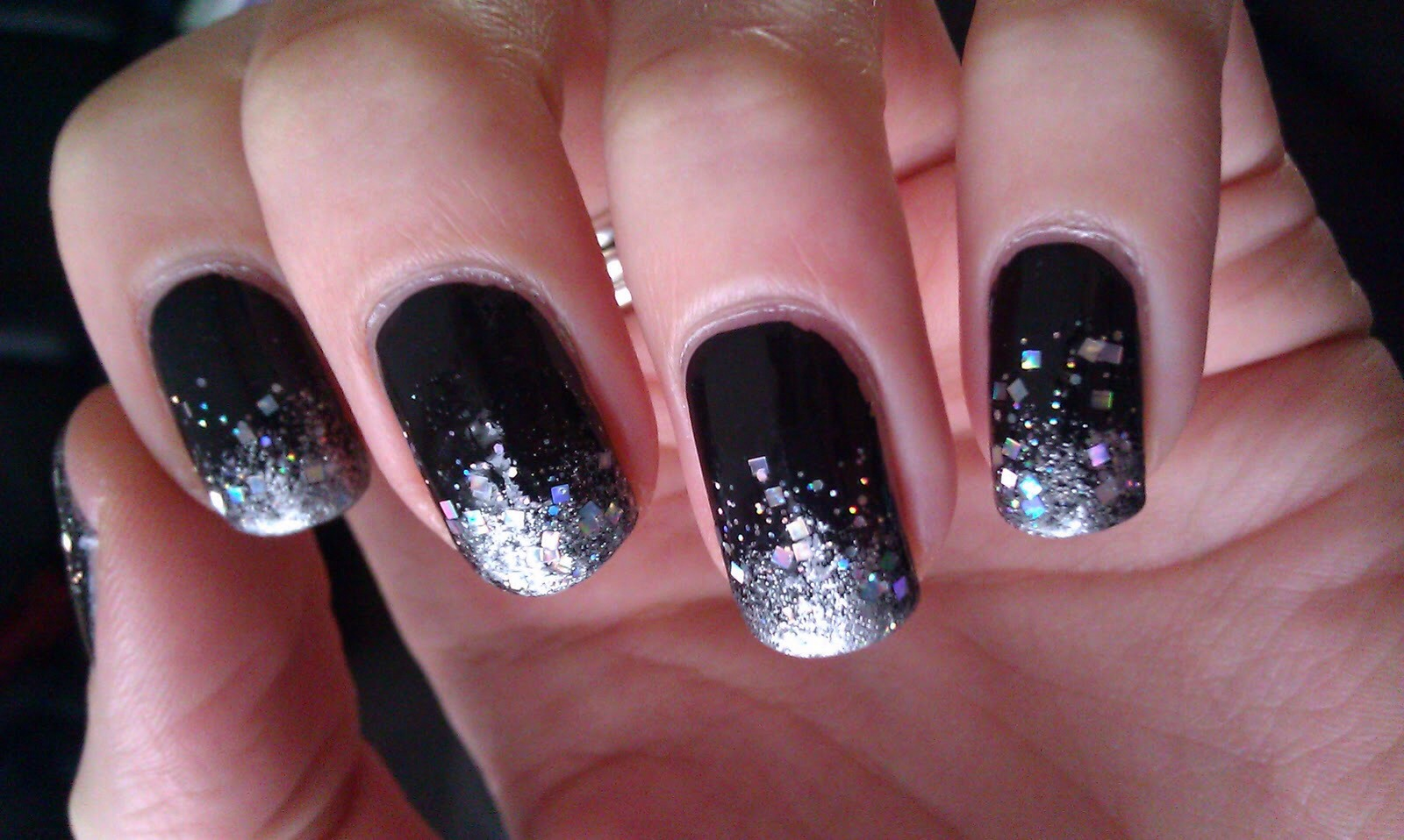 12. If you have chipped nail-polish, add crackle or glitter on top to disguise the look of chipping.