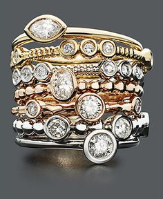 stackable rings from pandora
