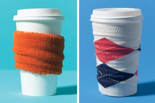 A wristband or the top of an old sock works just as well as a coffee sleeve at protecting your hands and fingers from scolding coffee. Why is it always SO hot in these cupsjQuery191039026461355388165_1401213802554 The first sip scares me more than tofu hotdogs.