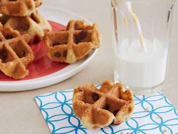 7. Waffled Chocolate Chip Cookies