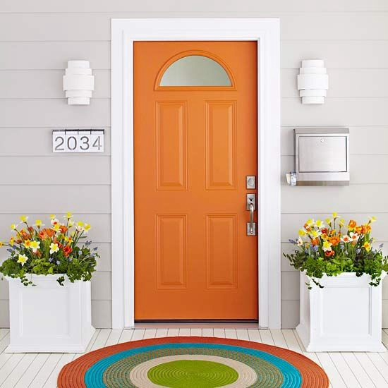 Add a bright color to your door