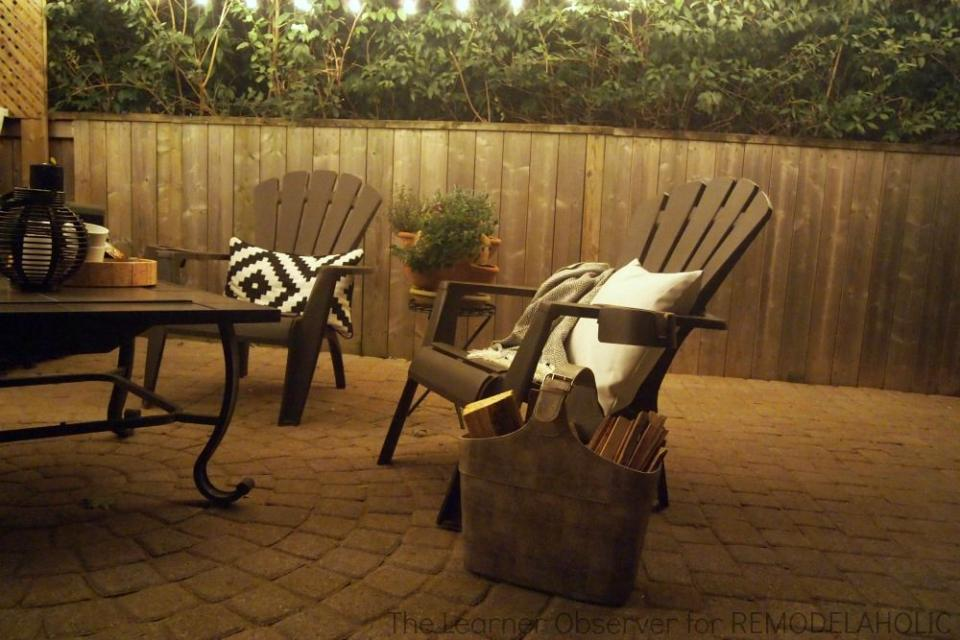 2. Sit outside with a glass of wine or tea and enjoy the calm together.