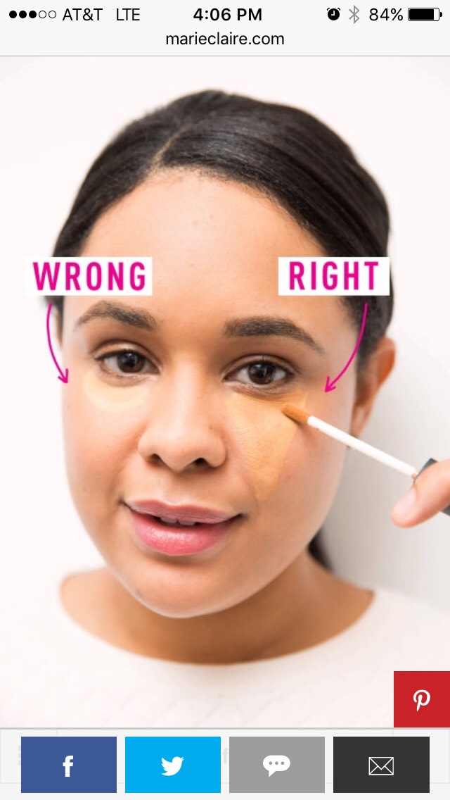 How to apply concealer the right way