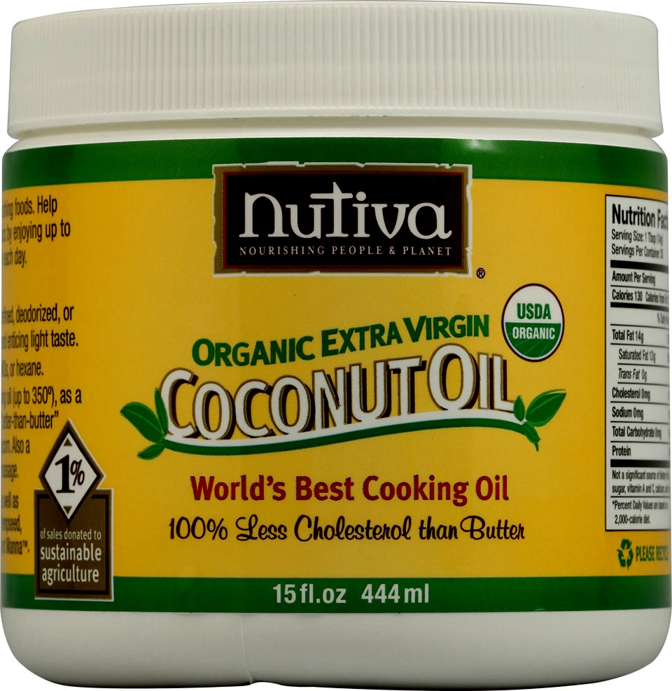 One part organic virgin cold pressed coconut oil