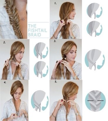 Follow these steps and you should get the perfect fishtail plait!