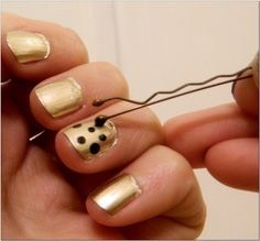 Use the end of a bobby pin to give you polka dots