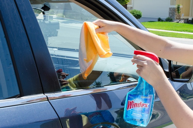 16. And don't forget to roll down windows to clean the top edge with Windex.