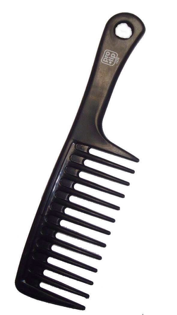 After your shower while your hair is wet brush through it with a fine tooth comb. Add any detanglers,etc