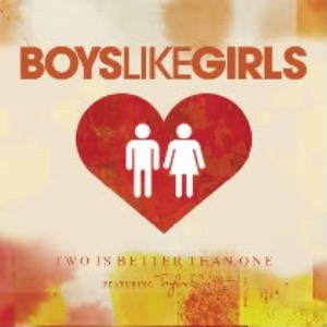 This is perfect! 'Two is Better than One' by BoysLikeGirls (feat. Taylor Swift) is perfect for you and your boyfriend! It has a teenage relationship feel to it, so I love this!