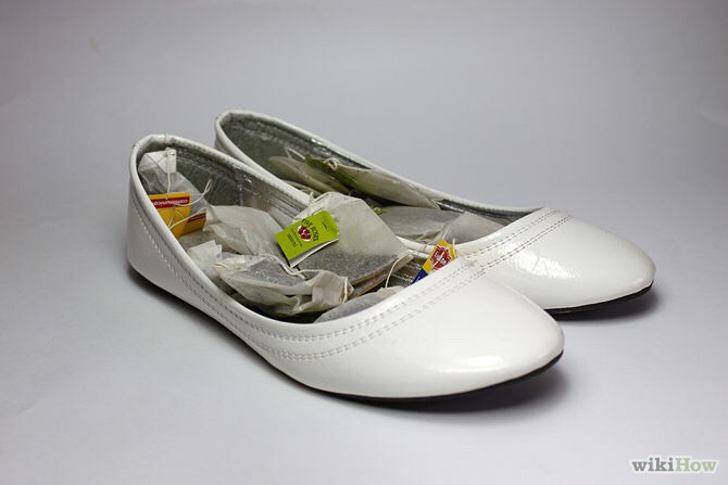 put tea bags in your shoes to rid them of the odor!