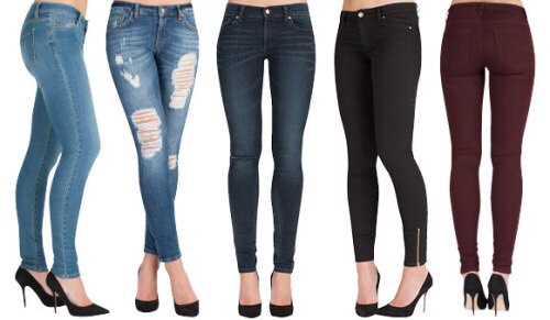 High waisted jeans are a must have for winter, they keep you warm and looking fashionable at the same time. Try wearing different colours such as burgundy and different styles like ripped.