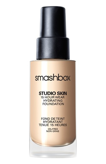 My favorite foundation is by far Smashbox Studio Skin! It provides great, buildable coverage while simultaneously looking really natural. It lasts all day without settling into fine lines. Although it says hydrating, it's great for ALL skin types, including oily! It dries semi-matte.