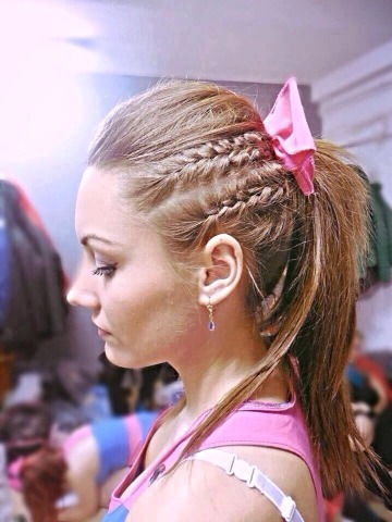 All you have to do is bump it on the top and add two small braids on each side