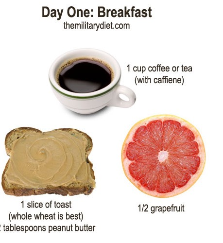 Substitutes  Coffee: caffeinated tea   Grapefruit: cup of water + 1/2 tbsp baking soda  Peanut Butter: almond butter, pumpkin butter, soy butter, sunflower seed butter, hummus or bean dip  Bread: 1/8 c sunflower seeds, 1/2 c whole grain cereal, 1/2 high protein bar, 1 tortilla or 2 rice cakes