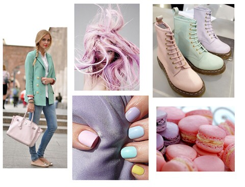 3.pastels Solid color pastels go perfect with floral prints. Wether it's your nails, tank, shoes, whatever, it's gonna look greattt with a pattern