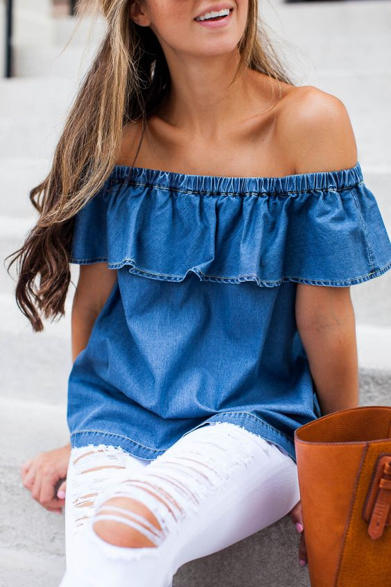 0eae1d05d532d Summer Outfit ideas   Off the Shoulder Tops by Georgette 💕 - Musely