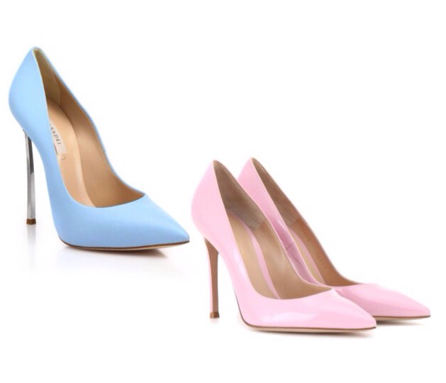 Let's start with the shoes. There are soooo many options that come in these fabulous colors! First up, pumps. And they are fab!