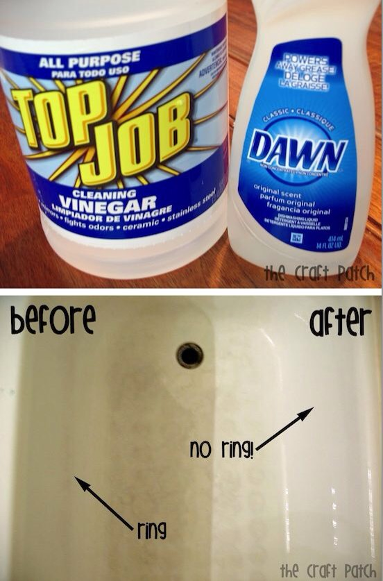 20.Tub Cleaner Not just tub cleaner, but a tub cleaner that doesn't require any scrubbing. What? Yeah, just a little bit of time to let it sit and work it's magic. Who comes up with this stuff? Some people amaze me. Like I said, It's time to start investing in vinegar.