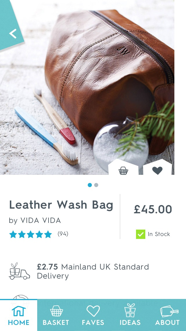 This leather wash bag is perfect for him if he works out a lot of travels often.