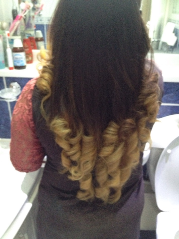 Hair done by me on my sister