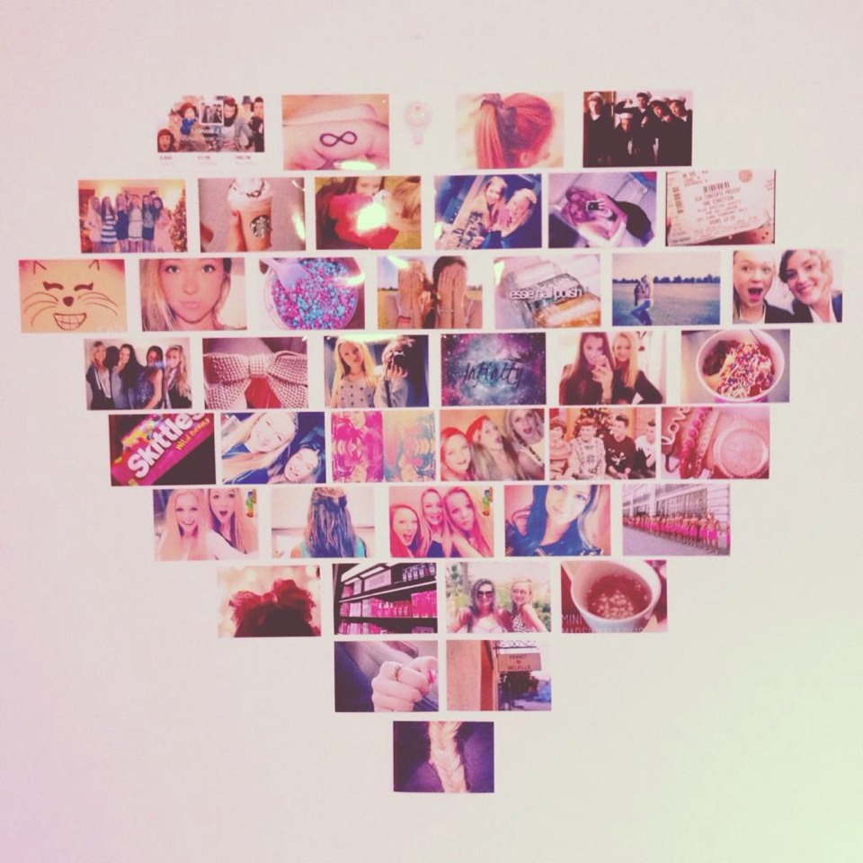 Add a photo wall/collage of personal pictures or pictures you like (look up tumblr pictures)