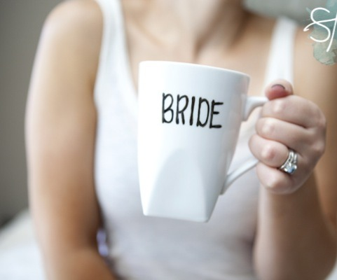 You don't have to write bride and groom. This DIY personalized cup is used for anything. You can have these cups personalized with your name or just simply a quote you love