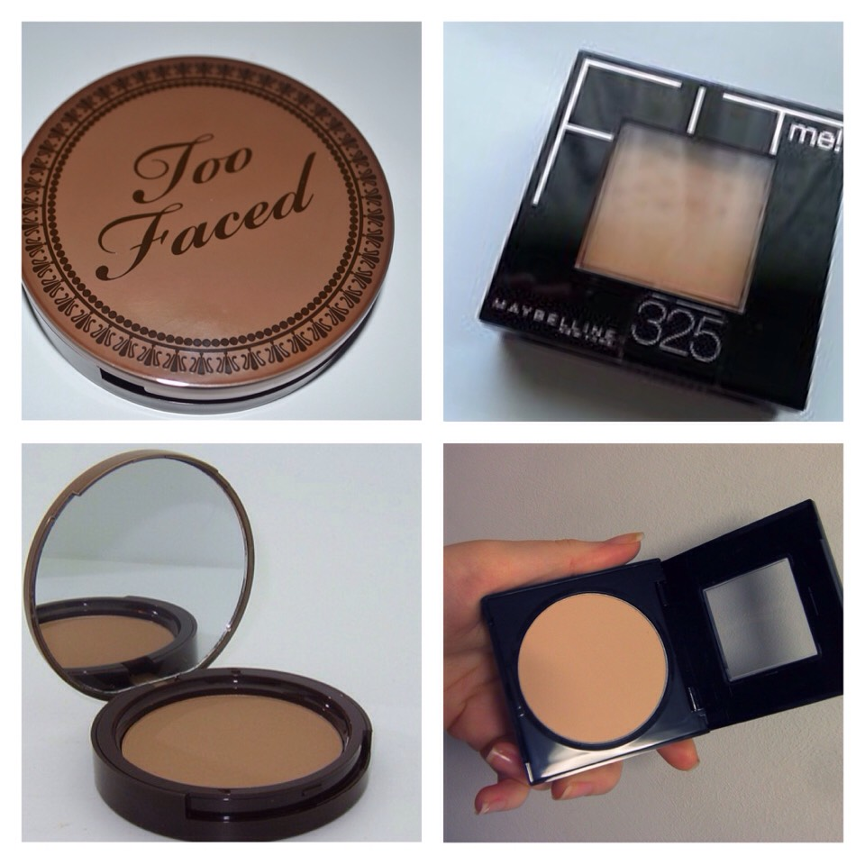 """Too Faced Milk Chocolate Bronzer vs. Maybelline Fit Me Powder """"325"""""""