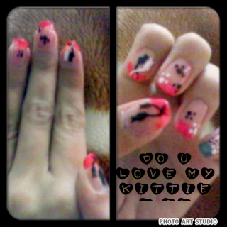 my sweet kitty nails.