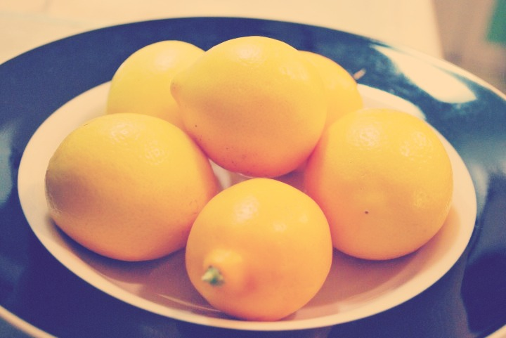 squeeze 1/2 a lemon (organic is better, but it will still work without) into a bowl.