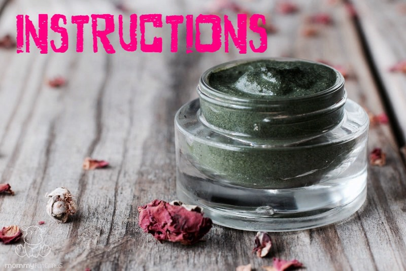 (1)If using an essential oil, add it to the kelp/chlorella powder + stir untilthoroughly combined. Addyogurt/aloe vera gel/oil+ combine again. If needed, add more liquid until the mixture hasa smooth, spreadable consistency.  NOTEIf using yogurt or aloe vera, I add water; Withoil, I add more oil.  (2)Apply itto your face + neck (if desired). I use a circular, rubbing motion to gently exfoliate as I apply.Allow it to sit for 15-30 mins, then rinse. Follow with moisturizer.