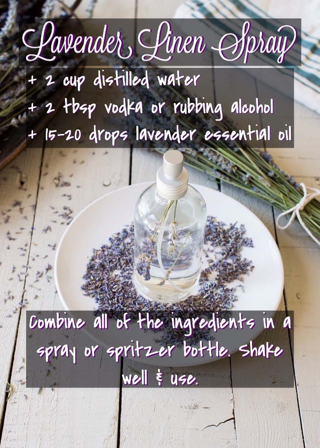 FOUND ON |  http://helloglow.co/dry-lavender-lavender-linen-spray/