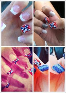 Beautiful confederate flag nails
