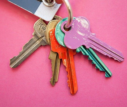 6. Paint your keys so that you can tell which key is for which lock.