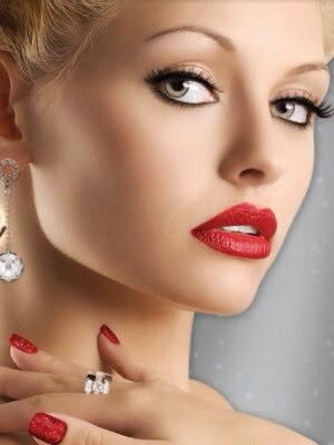 Simple but classy red lip and nude eye combo
