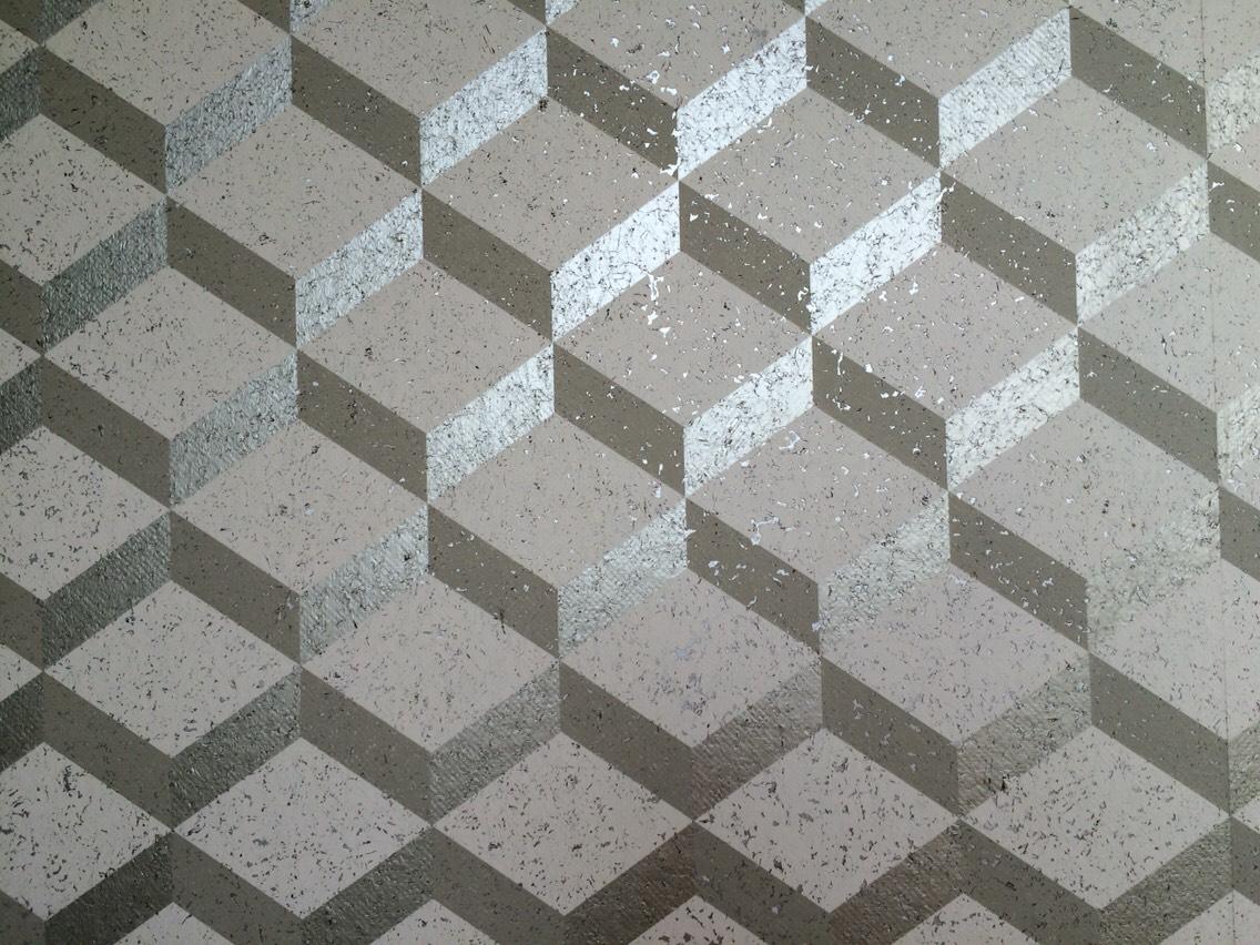 3D silver wallpaper