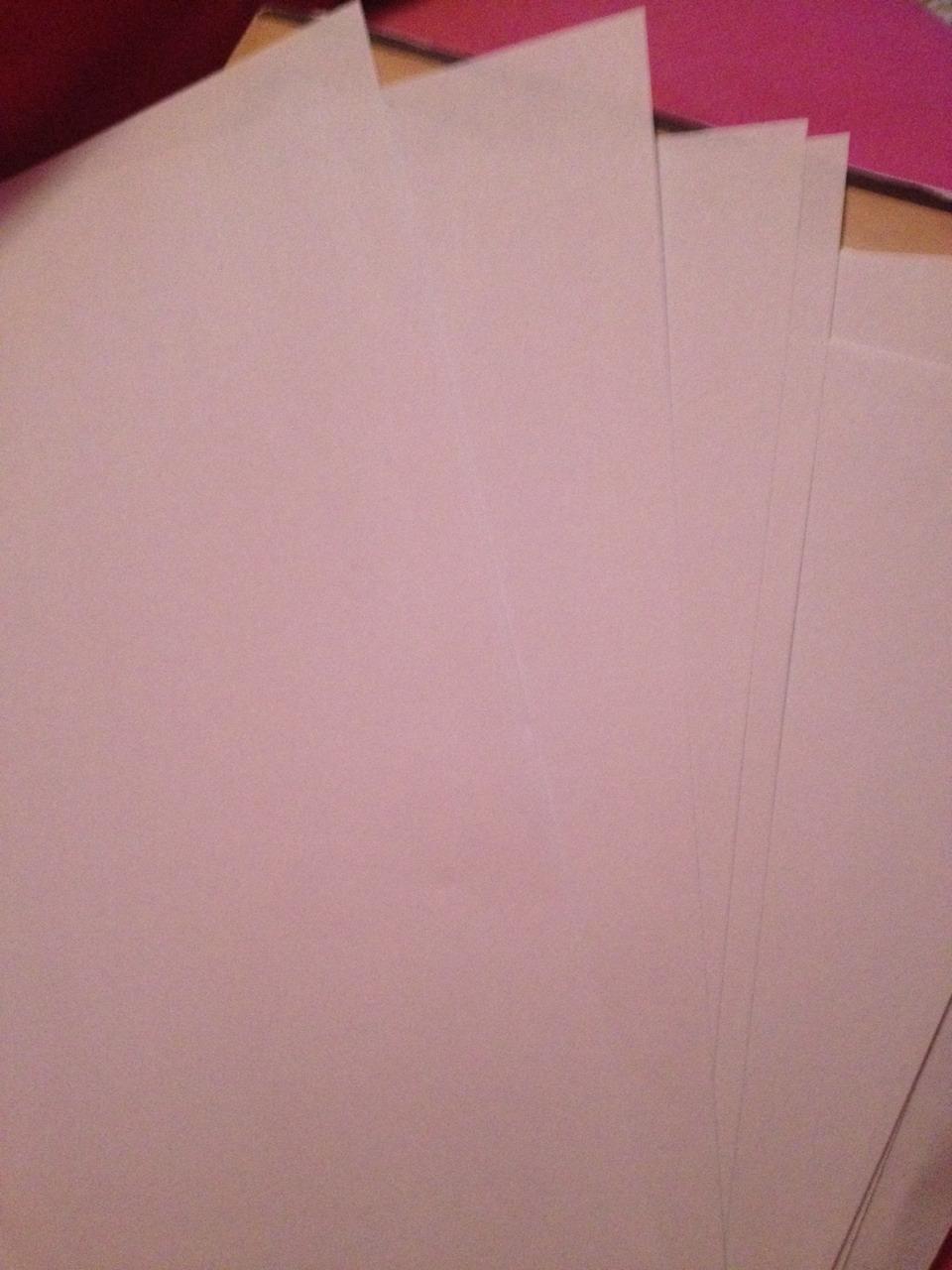 Get a good few sheets of paper