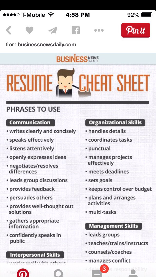 Superb RESUME CHEAT SHEETS And Resume Cheat Sheet