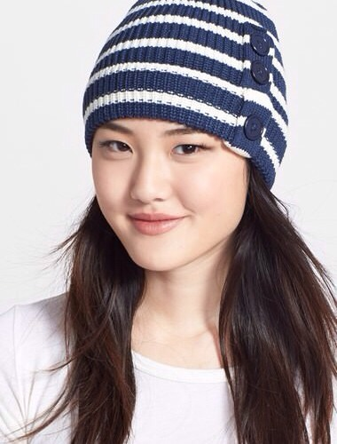5. Baby, it's cold outside! Stay warm and stylish with this cute Phase 3 Striped Beanie. It comes in eight different colors and is super affordable, so you might as well stock up on a few!