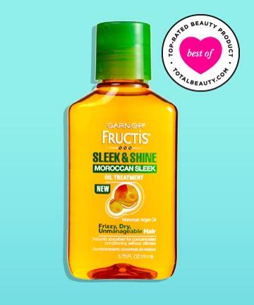 The Best #1: Garnier Fructis Sleek and Shine Moroccan Sleek Oil Treatment, $5.99