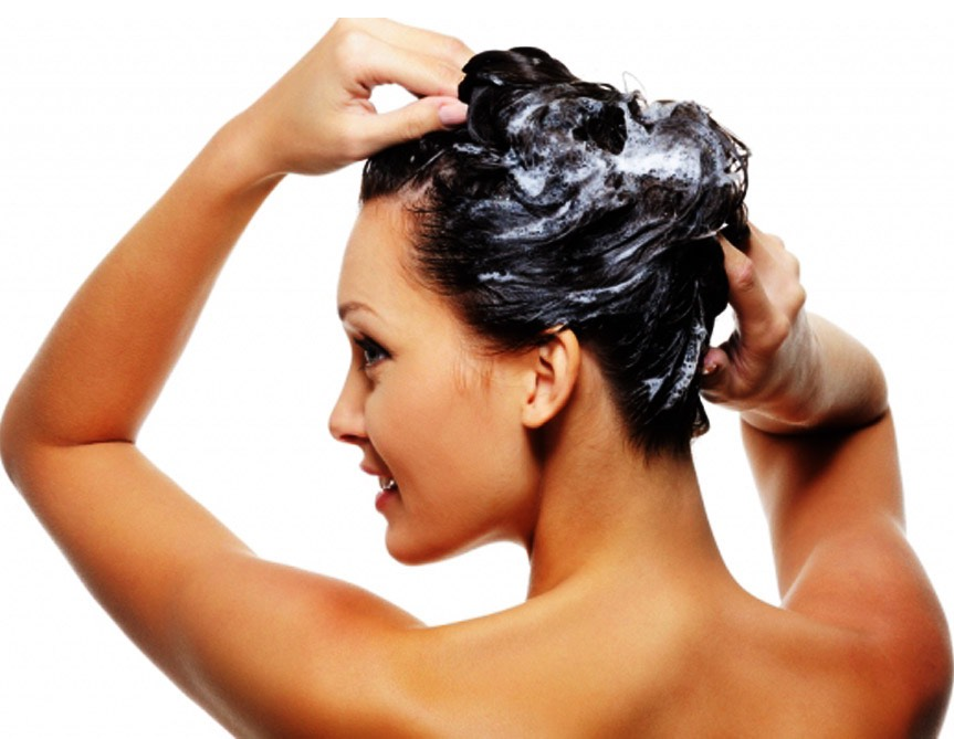 Rub the olive oil into your scalp