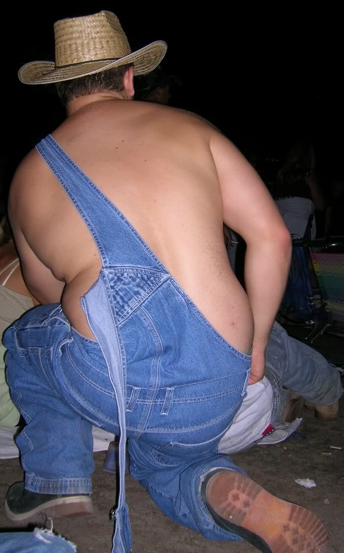 fat women in overalls pictures