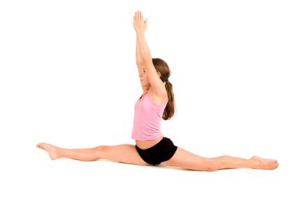 first go in a split position and then hold it for 30 seconds or a minute (I suggest a minute) after you are done go/try to go 1inch lower doing this a couple days in a week we'll help you a lot.