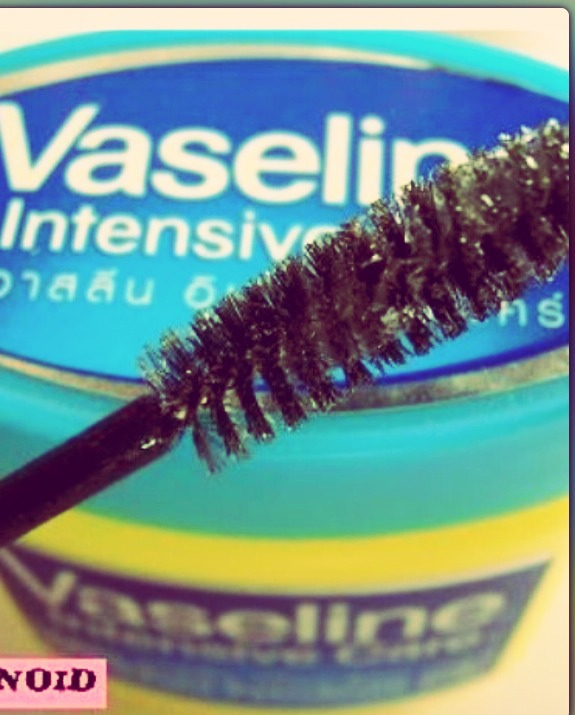 Vaseline helps your lashes grow!