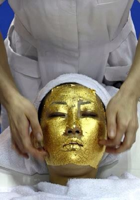4. Gold facial   A 24-karat gold facial will cost a pretty penny. The anti-aging treatment generates new cells, firms skin, and prevents the depletion of collagen and elastin, because the skin rejects gold. That's what the beauty experts say, anyway.