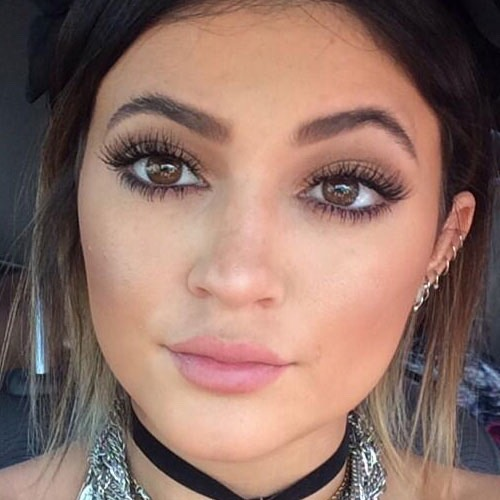 Kylie has eyebrows to die for. But they can be achieved by tweezing or ……